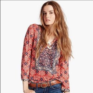 Lucky Brand •Bohemian Peasant Top